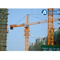 Wholesale Hammerhead Fixed Tower Crane , Overhead External Climbing Tower Crane from china suppliers