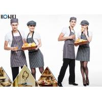 Wholesale Black And White Stripes Custom Cooking Aprons Printing / Embroidery Logo from china suppliers