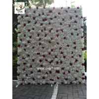 Wholesale UVG CHR1136 ivory artificial flower wall wedding backdrop for stage decoration from china suppliers