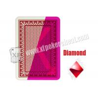 Wholesale Red 4 Jumbo Index Invisible Playing Cards For Contact Lenses from china suppliers