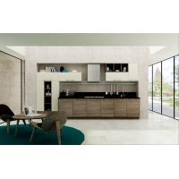 Buy cheap Modern Simple Wood Grain PVC Kitchen Cabinet from wholesalers