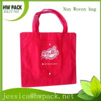 Wholesale red nonwoven bag with handle from china suppliers