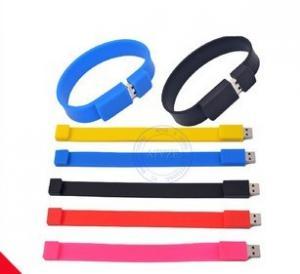 Wholesale bracelet usb flash drive, rubber wristband usb flash drive, color wristband usb from china suppliers