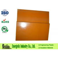 Wholesale 100mm Bakelite Phenolic Plastic Sheets with SGS Certificate , Orange from china suppliers