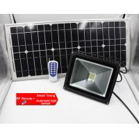 Quality 10w dc12v RF remote solar led flood lights, solar dimmable led floodlight with Remote for outdoor public lighting area for sale
