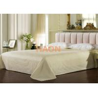 Wholesale Colorful Ecological Cotton Hotel Flat  Sheet Queen Size With  Jacquard Weave from china suppliers