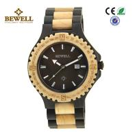 Wholesale Round Face Custom Men Wooden Watches , Black Sandalwood Maple Wooden Style Watches from china suppliers