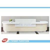 Wholesale White MDF Wood Reception Desk For Exhibition Help Center , 5000mm * 2800mm * 1050mm from china suppliers