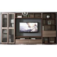 Wholesale 2017 New Walnut Wood Furniture Design Living room Combined TV Wall Units by Tall Cabinets and Floor stand & Hang Racks from china suppliers