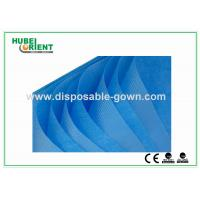 Wholesale Single Use Non Woven Disposable Bed Sheets with Round Elastic Rubber , White / Blue Color from china suppliers