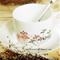 Wholesale black and white coffee up hatched drawing plant style from china suppliers