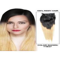 Wholesale Soft Smooth Full Head Colored Human Hair Extensions 12 - 30 Inch Straight Remy Hair Weave from china suppliers