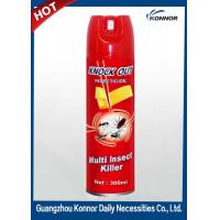 Restroom Tinplate 600ml Aerosol Insect Killer Spray with Raw Material