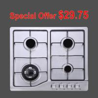 Wholesale Four Burners / 6 Burner Gas Hob with Stainless Steel Panel for Cooking from china suppliers