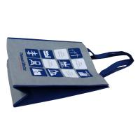 Wholesale Grey Non Woven Fabric Carrier Bags With Blue Handle Reusable from china suppliers