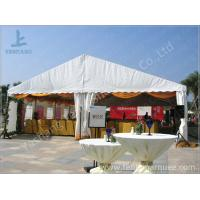 Wholesale White Roof Cover outside event tents for Golf Villas Sales Conference with orange ripples from china suppliers