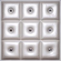 Buy cheap Fire Resistant 3D Wall Decor Panels , Carved Faux Leather Wall Tiles from wholesalers