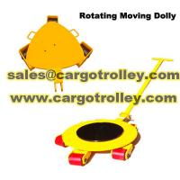 Rotating moving dolly applications and price list