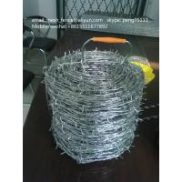 Wholesale China manufacturer single/double strands barbed wire low price from china suppliers