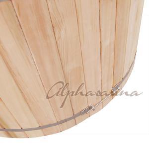 Quality Outdoor Red Cedar Sauna Hot Tub Bath Barrels , wooden color Barrel Sauna Bath for sale