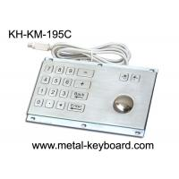 Wholesale Rugged Stainless Steel Panel Mount Keyboard with Trackball IP65 Rate Dustproof from china suppliers
