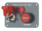Wholesale Carbon Fiber Racing Ignition Switch Panel , Red Illuminated Engine Start Button from china suppliers