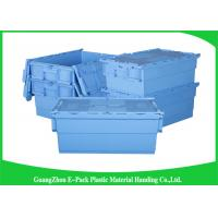 Quality Warehouse Plastic Attached Lid Containers Transport Packaging Environmental Protection for sale