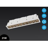 Buy cheap Mini Size 10 Heads 21W Modern Recessed Multi head Ceiling LED Grille Downlight Fixture from wholesalers