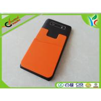 Quality Flexible Custom Cell Phone Silicone Cases Green / Orange Fashionable for sale