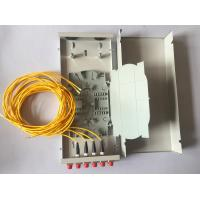 Wholesale Mini Wall Outlet Fiber Distribution Box 4 / 8 / 12 Core FTTH Termination Box from china suppliers