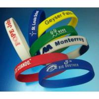 Wholesale 100% Silicone Full Color Printing Custom Silicone Wristband For Younger Size 190x12x2mm from china suppliers
