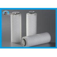 Wholesale PTFE 5 Pleated Water Cartridge Filter Element For Fermentation Tank from china suppliers