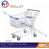 Wholesale Eco - friendly metal Supermarket Shopping Trolley With Four Wheels from china suppliers