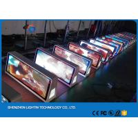 Wholesale Outdoor Double Side Taxi Top LED Display 3G WIFI Taxi Advertising Light Box from china suppliers