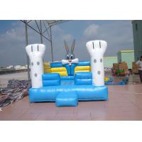 Wholesale Durable Blue Outdoor Commercial Bounce Houses With Oxford Fabric from china suppliers