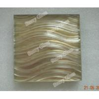 Buy cheap Decorative wet laminated glass with grooving from wholesalers