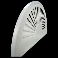 Wholesale indoor 100% basswood special shapes shutters for windows with standard tilt bar or hidde from china suppliers