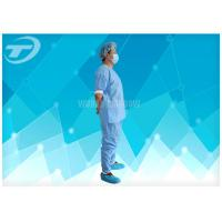Wholesale Disposable Coveralls Waterproof Disposable Gown With Knitted Cuff from china suppliers