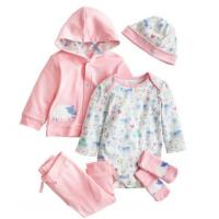 Wholesale Pink Infant Baby Clothes Girls 5 Piece Baby Gift Set Breathable Eco Friendly from china suppliers
