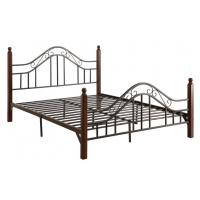 Wholesale Cool French Style Full Size Metal Beds Double Black With Headboard from china suppliers