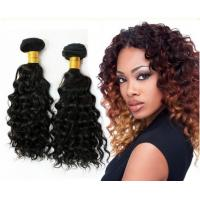 Wholesale 1B Color Deep Wave Virgin Peruvian Hair Extensions / virgin peruvian natural wave hair from china suppliers