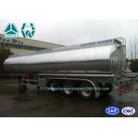 Quality Stainless Steel Fuel Tank Semi Trailer 3 Axles 60000 Liters With Mechanical Suspension for sale