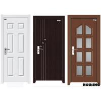 Quality Customized Wood PVC Doors , Fire Wood / MDF / Solid Wood / PVC Film for sale
