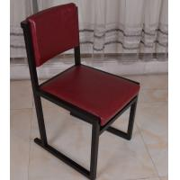 Quality Classic Upholstered Leather Seat Dining Wooden Chair Restaurant Furniture for sale