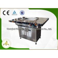 Wholesale Stainless Steel Electric Self-Service Mini Teppanyaki Grill Table Down Exhaustion Wonderful Design for Restaurant Hotel from china suppliers
