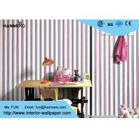 Wholesale Mediterranean Modern Removable Wallpaper,Blue And Red Striped Wallpaper 0.53*10M from china suppliers
