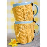 Wholesale Knitted Wraparound Cable Design Coffee Mug Cozy , Custom Reusable Crochet Coffee Cozy from china suppliers