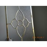 Wholesale Figured Glass Panels For Kitchen Cabinets , Beveled / Flat Edge Glass For Cabinets from china suppliers