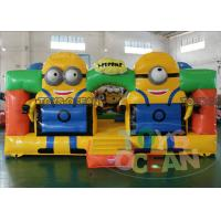 Wholesale Lovely Minions Inflatable Bouncer Playground Trampoline For Kids 5x52.5M EN14960 from china suppliers
