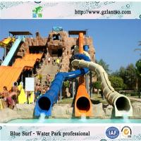 Wholesale Adult Water Park Equipments , Water Playground With Fiberglass Water Slides from china suppliers